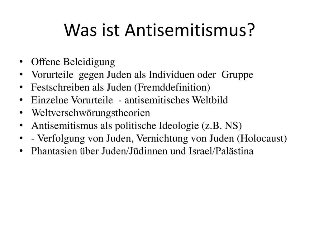 Was ist Antisemitismus