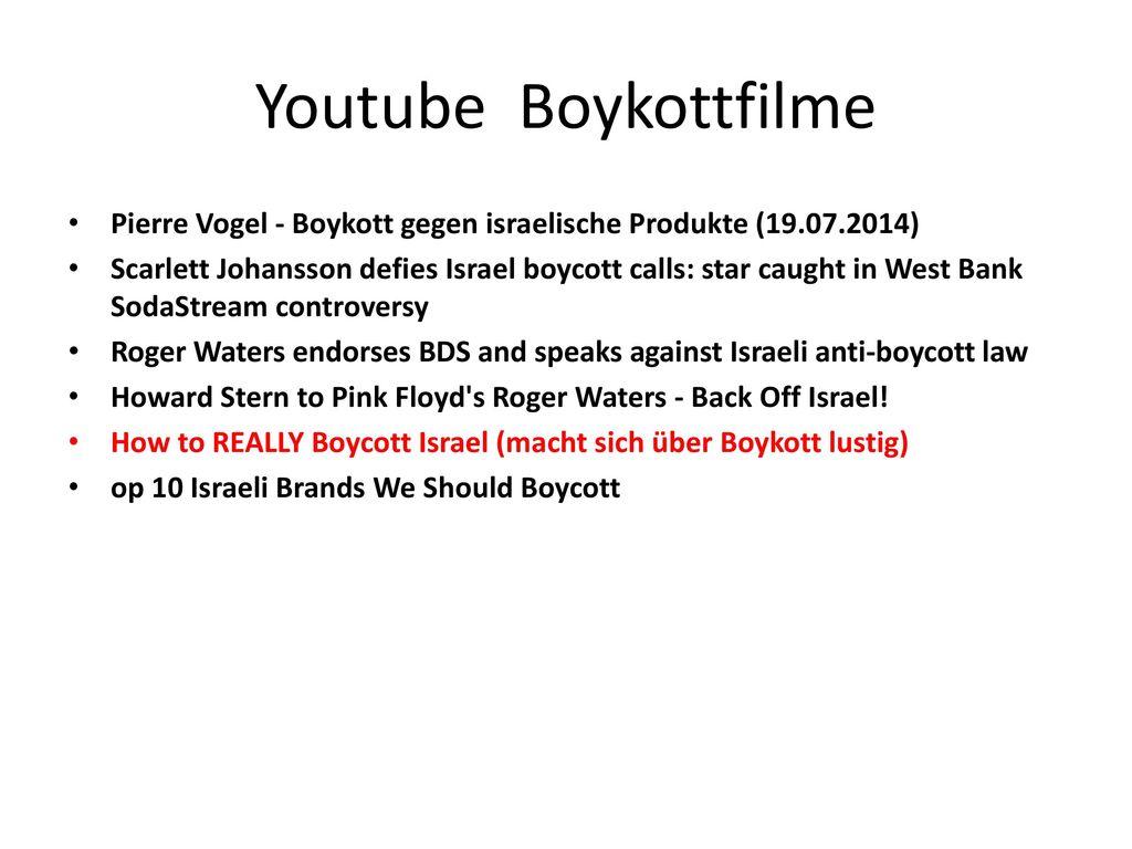 Youtube Boykottfilme Pierre Vogel - Boykott gegen israelische Produkte (19.07.2014)