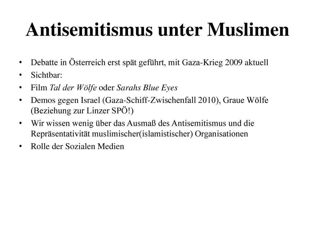 Antisemitismus unter Muslimen