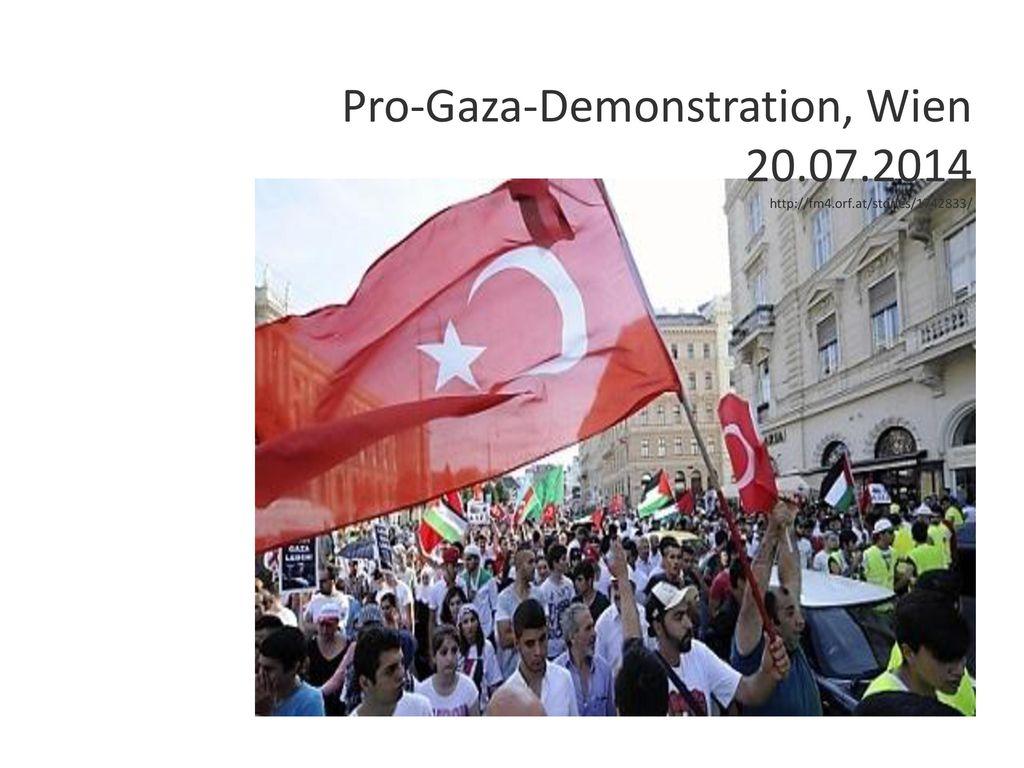 Pro-Gaza-Demonstration, Wien 20.07.2014