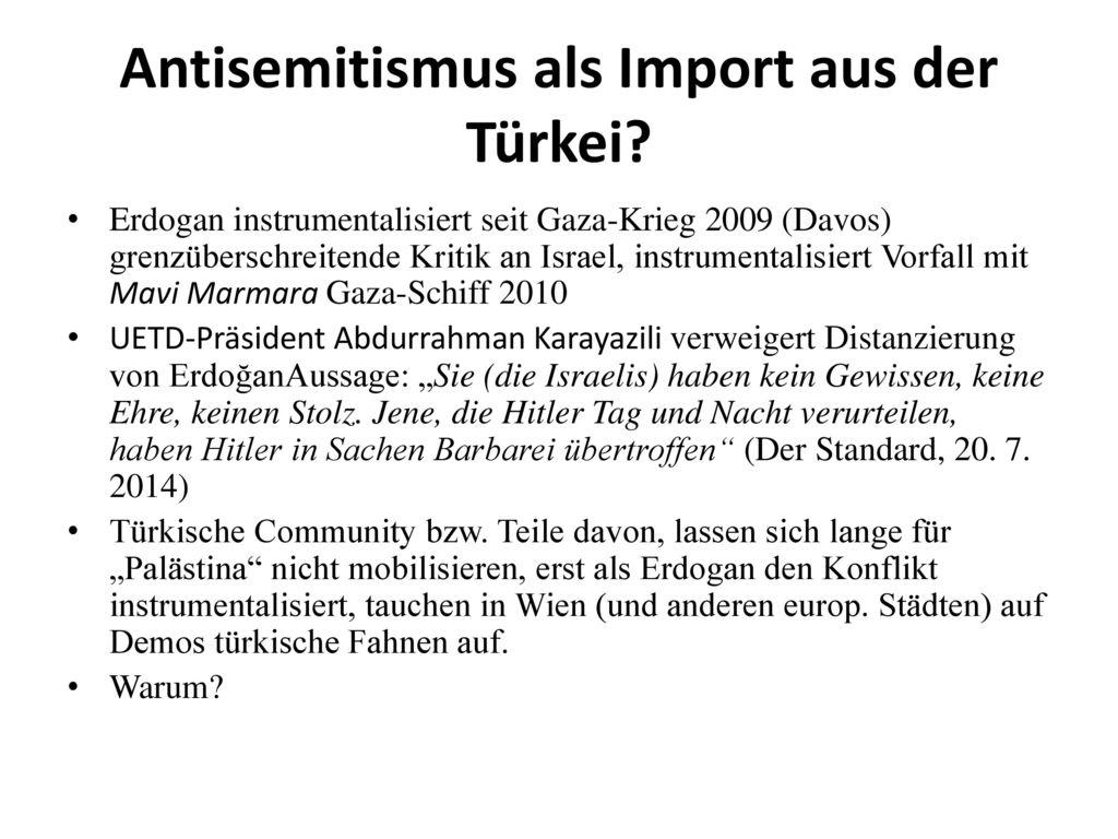 Antisemitismus als Import aus der Türkei