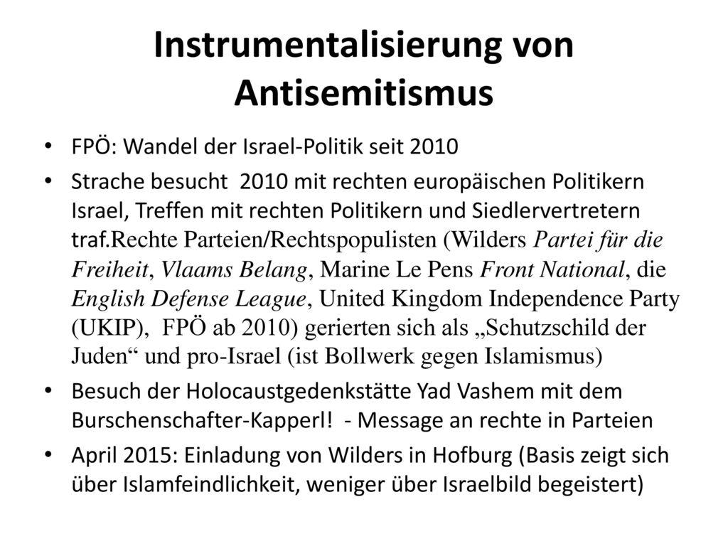 Instrumentalisierung von Antisemitismus