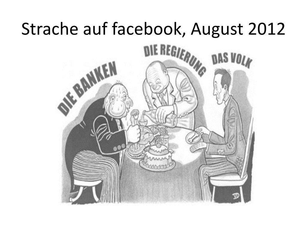 Strache auf facebook, August 2012