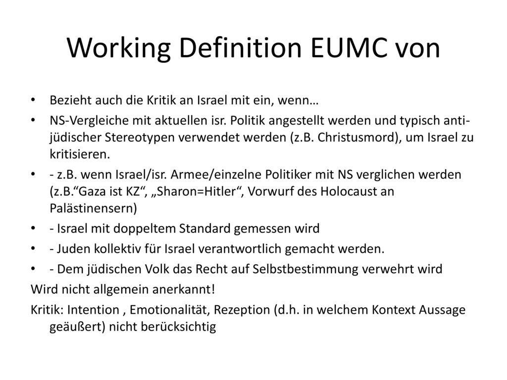 Working Definition EUMC von