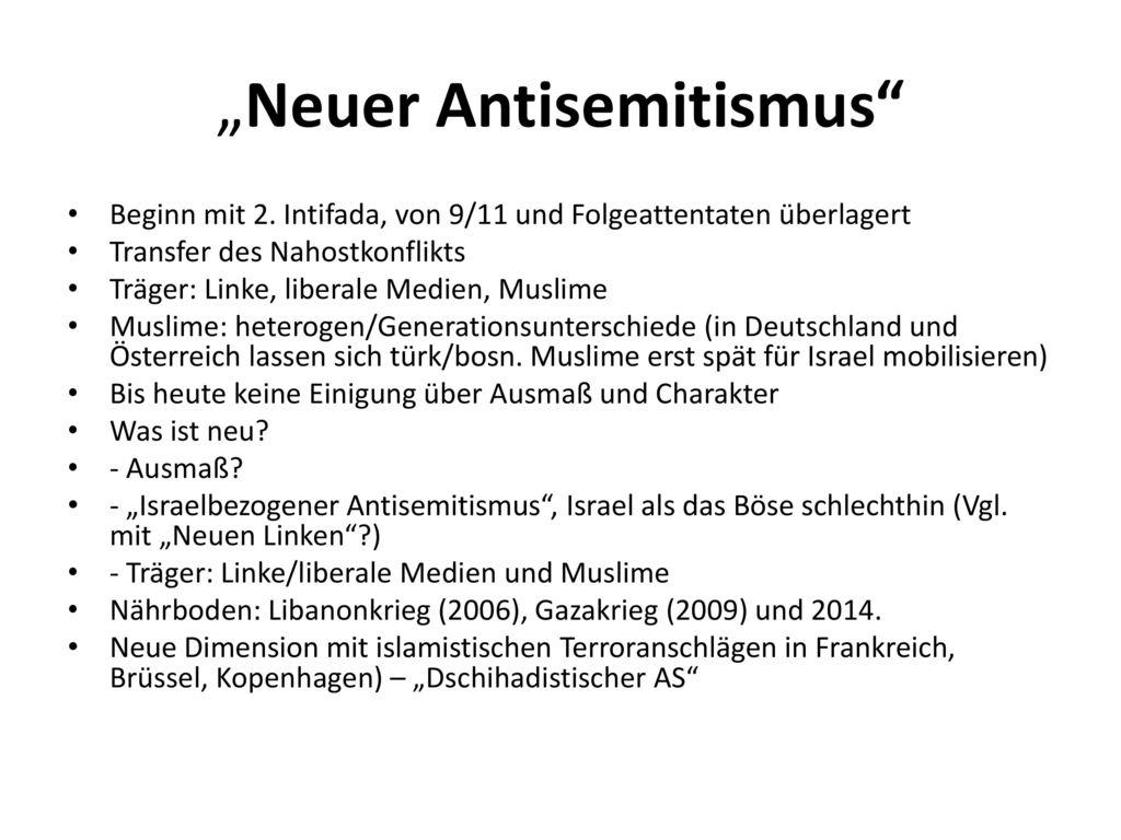"""""""Neuer Antisemitismus"""