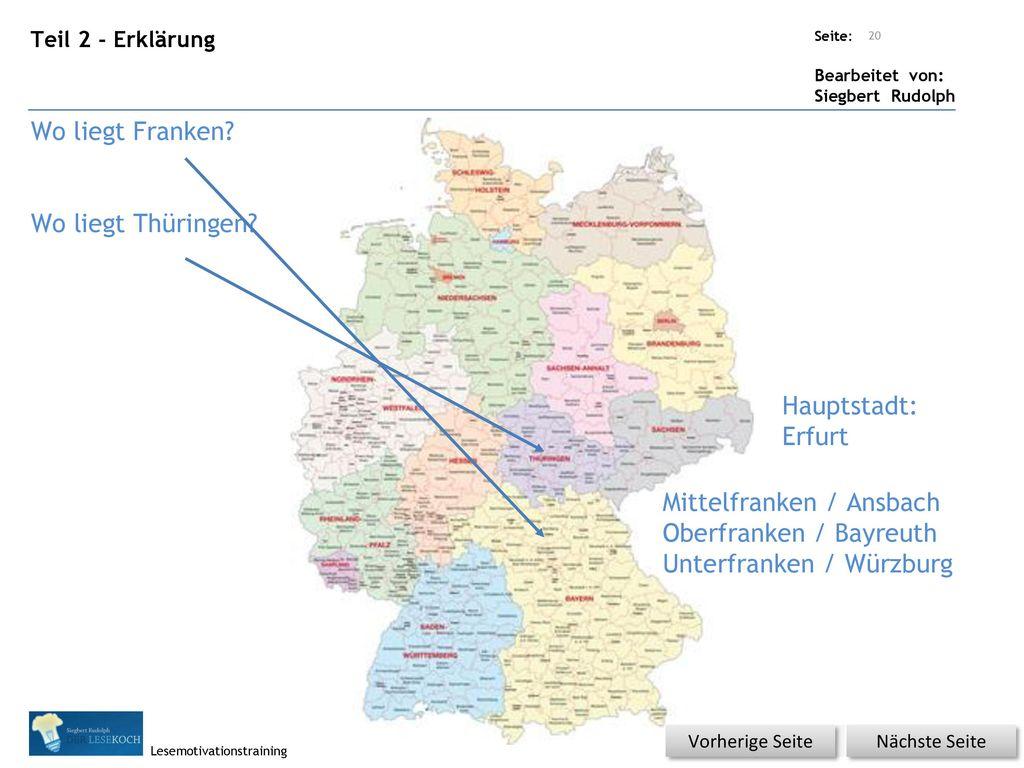 Mittelfranken / Ansbach Oberfranken / Bayreuth Unterfranken / Würzburg