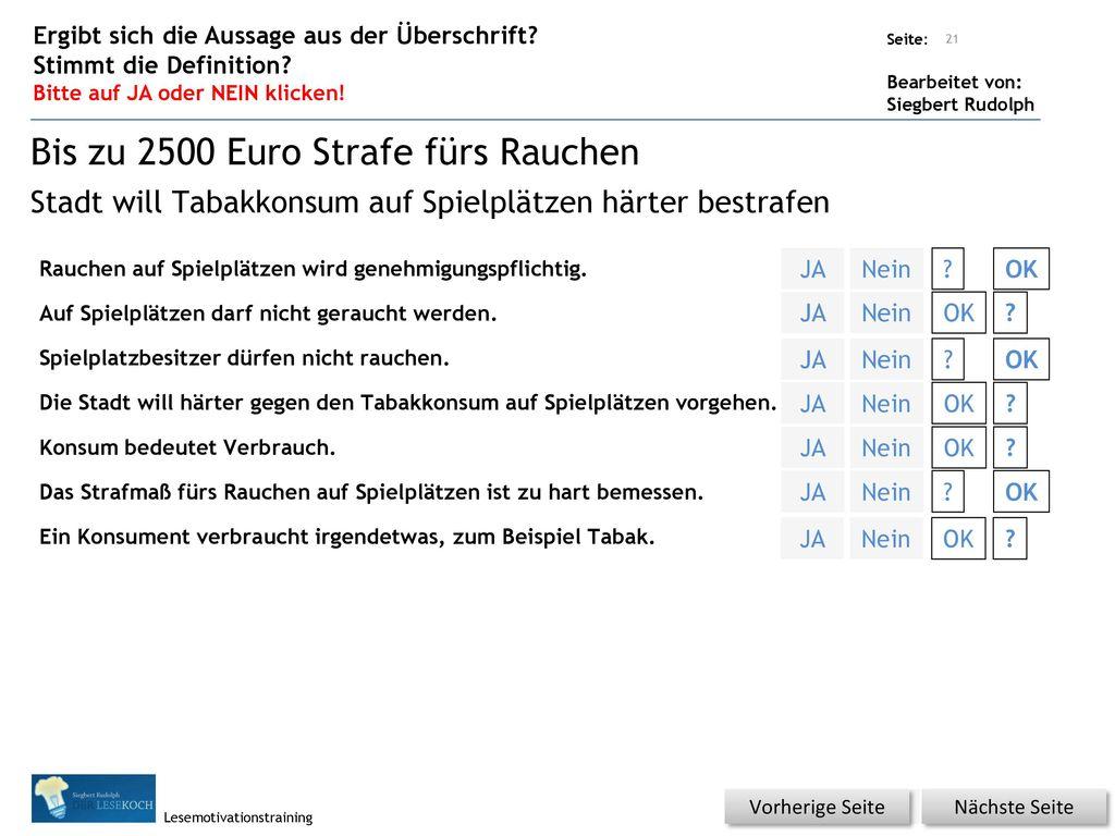 Bis zu 2500 Euro Strafe fürs Rauchen