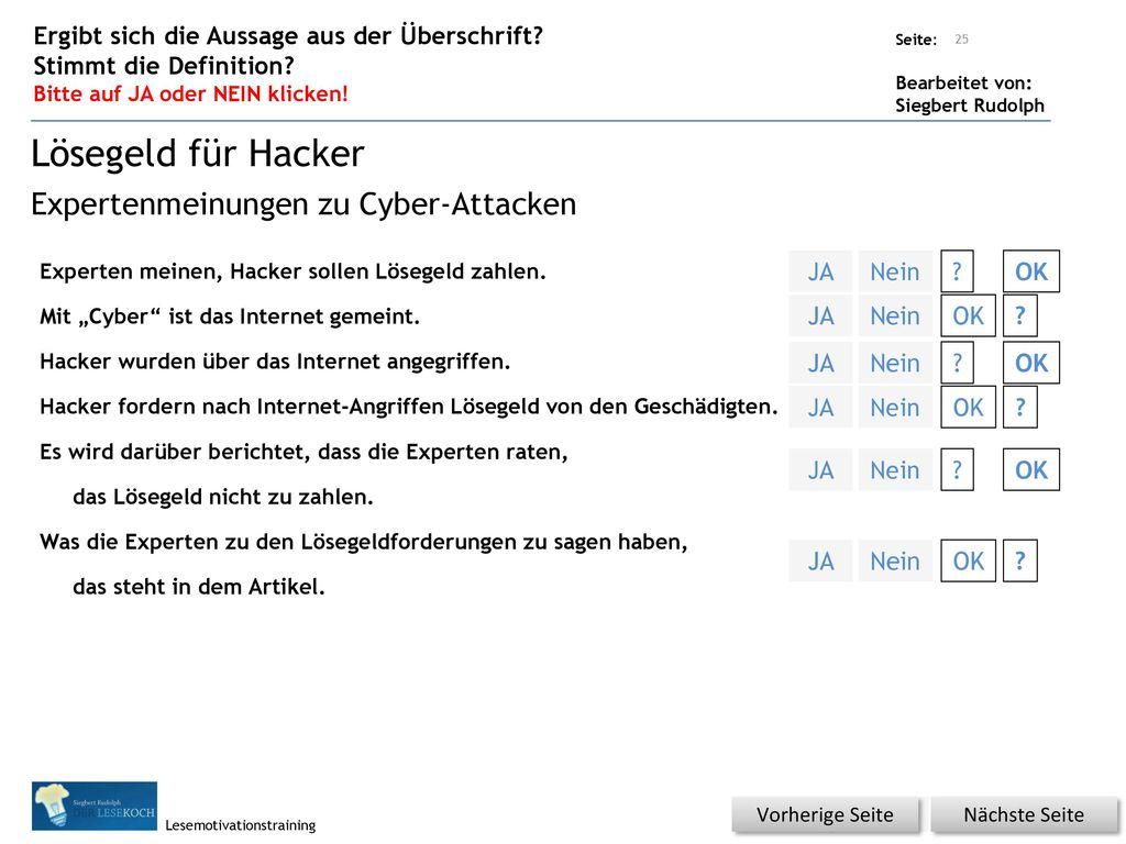 Lösegeld für Hacker Expertenmeinungen zu Cyber-Attacken