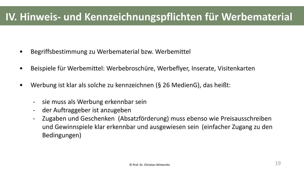 © Prof. Dr. Christian Winternitz