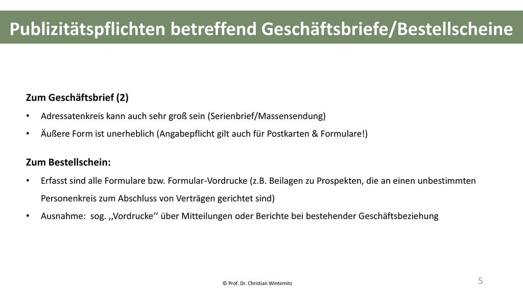 © Prof. Dr. Christian Winternitz