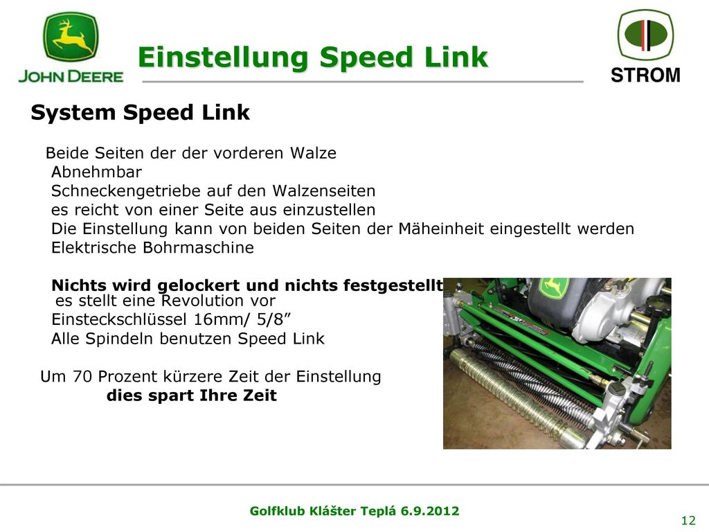 Einstellung Speed Link