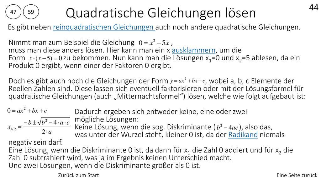 Charmant Lösung Quadratische Gleichungen Durch Quadratwurzeln ...