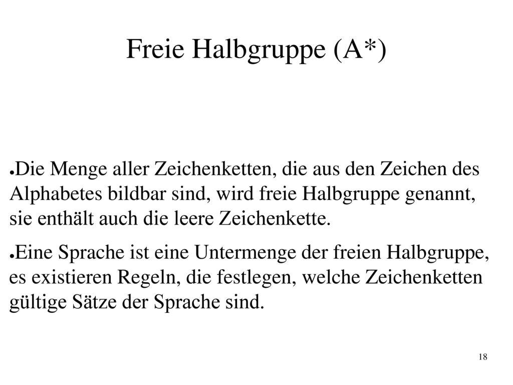 Freie Halbgruppe (A*)