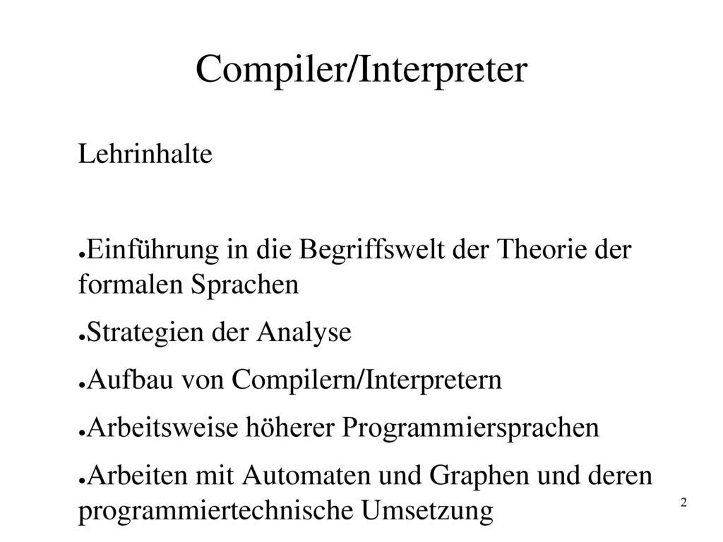 Compiler/Interpreter