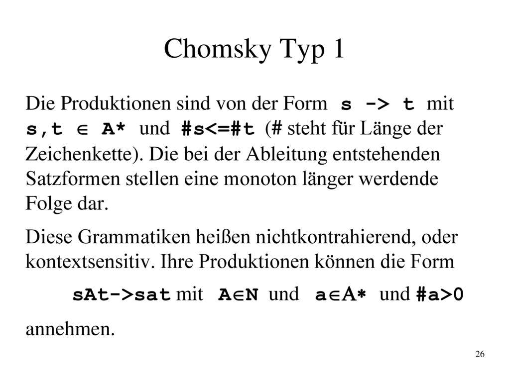 Chomsky Typ 1