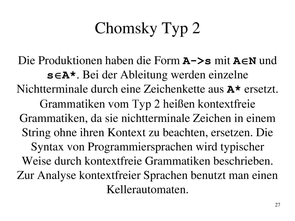 Chomsky Typ 2