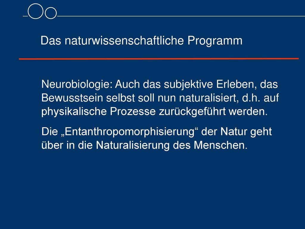 Das naturwissenschaftliche Programm