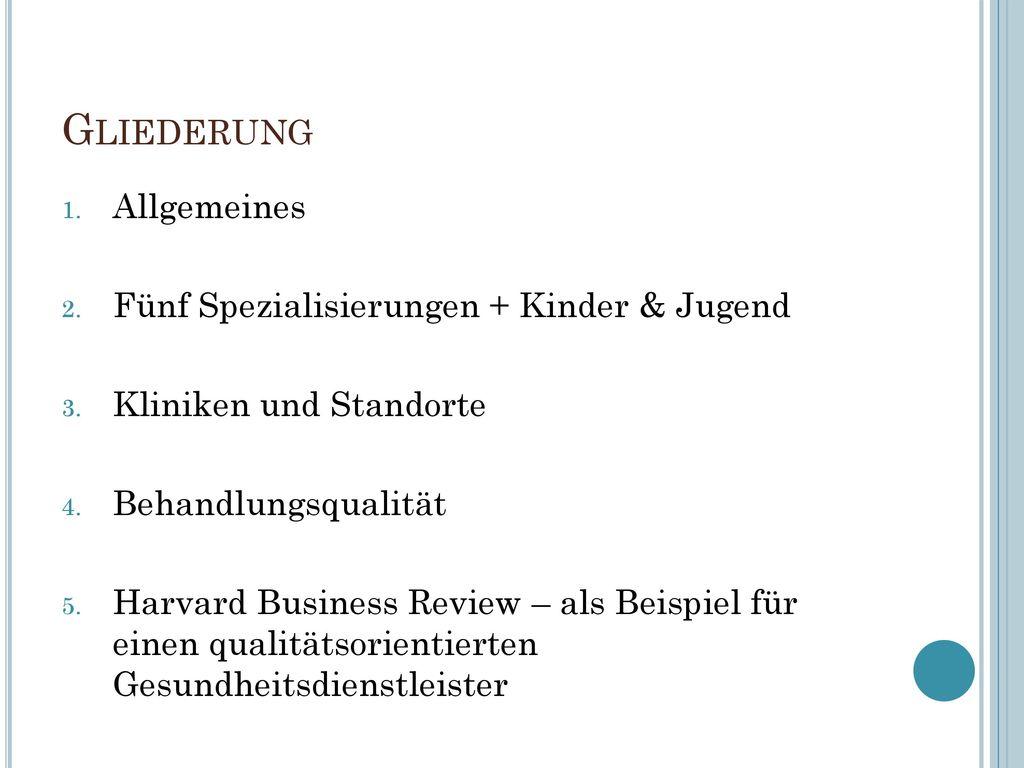 Gliederung Allgemeines Fünf Spezialisierungen + Kinder & Jugend