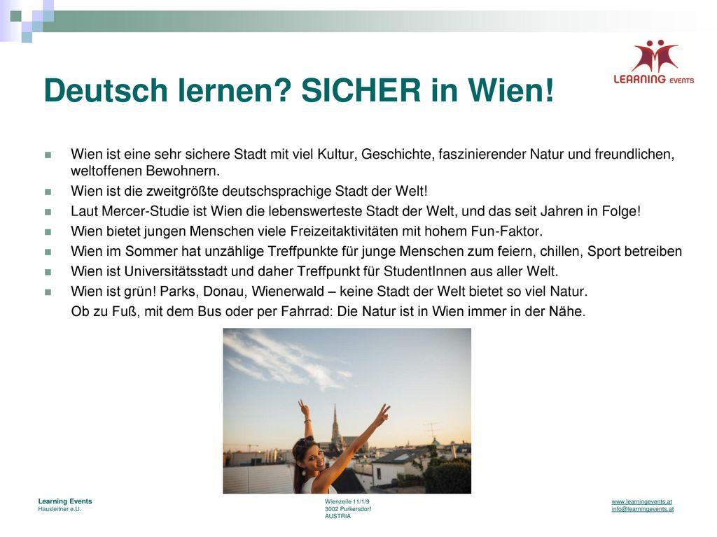 Deutsch lernen SICHER in Wien!