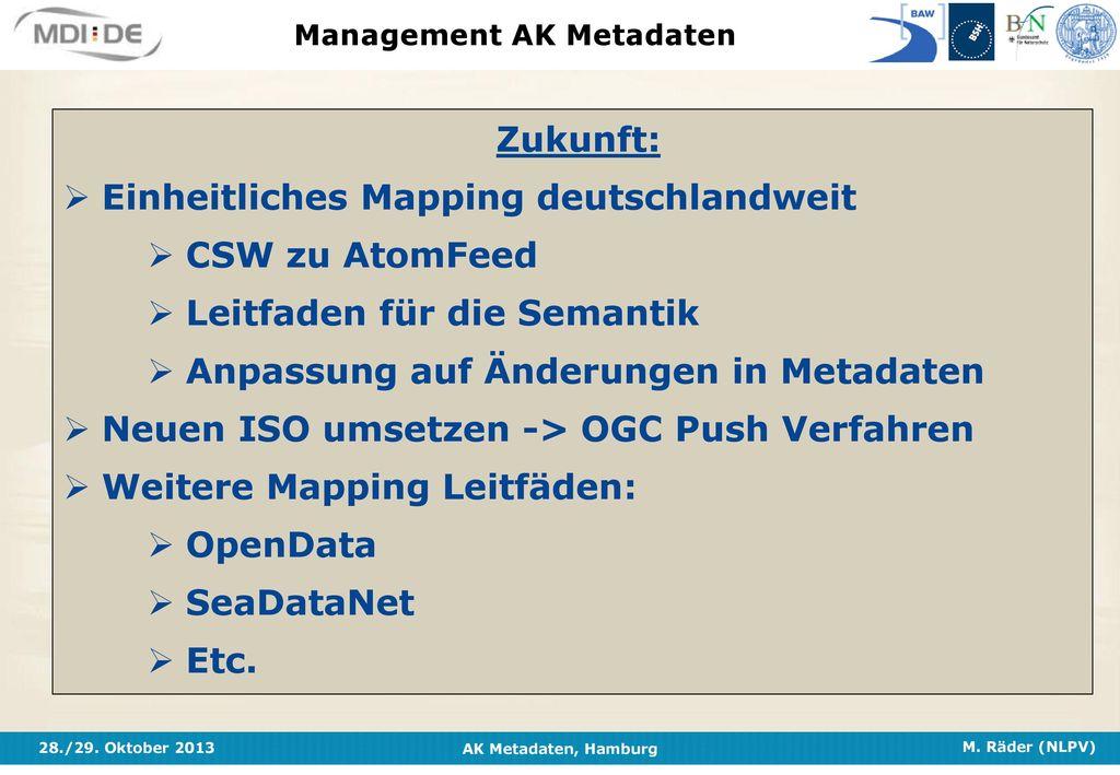 Management AK Metadaten