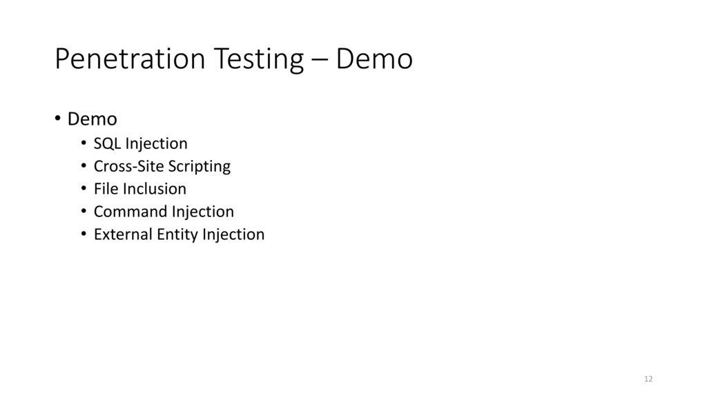 Penetration Testing – Demo