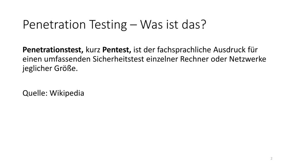 Penetration Testing – Was ist das