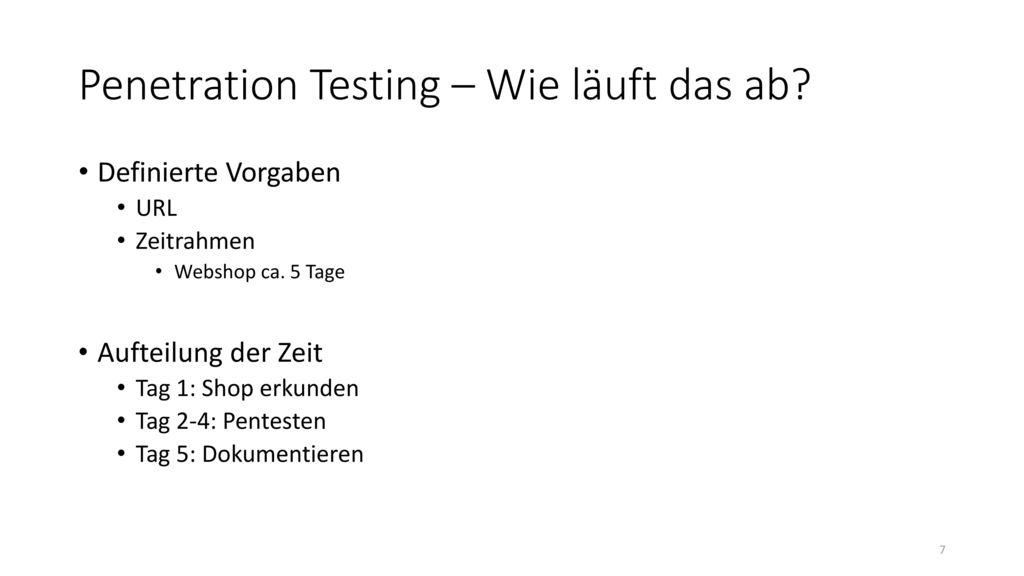 Penetration Testing – Wie läuft das ab