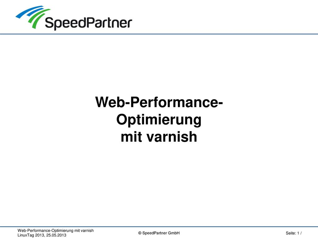 Web-Performance- Optimierung mit varnish