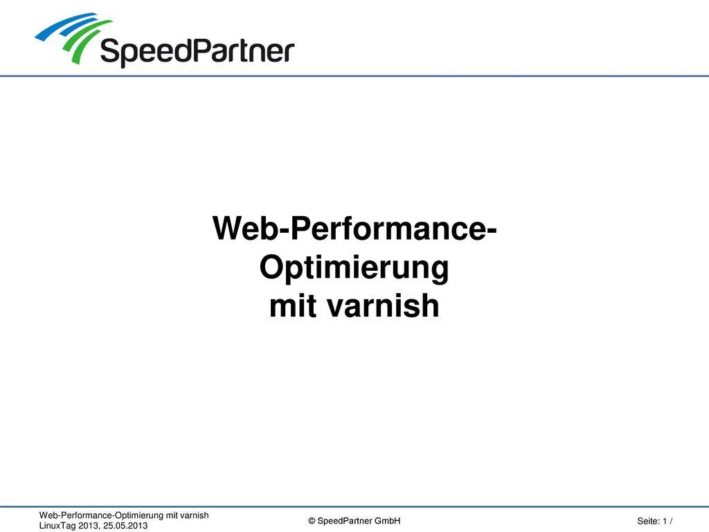 Web-Performance- Optimierung mit varnish