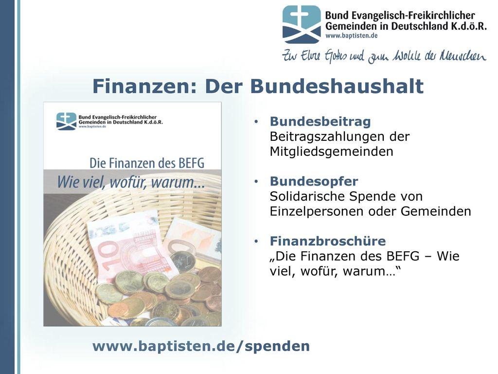 Finanzen: Der Bundeshaushalt