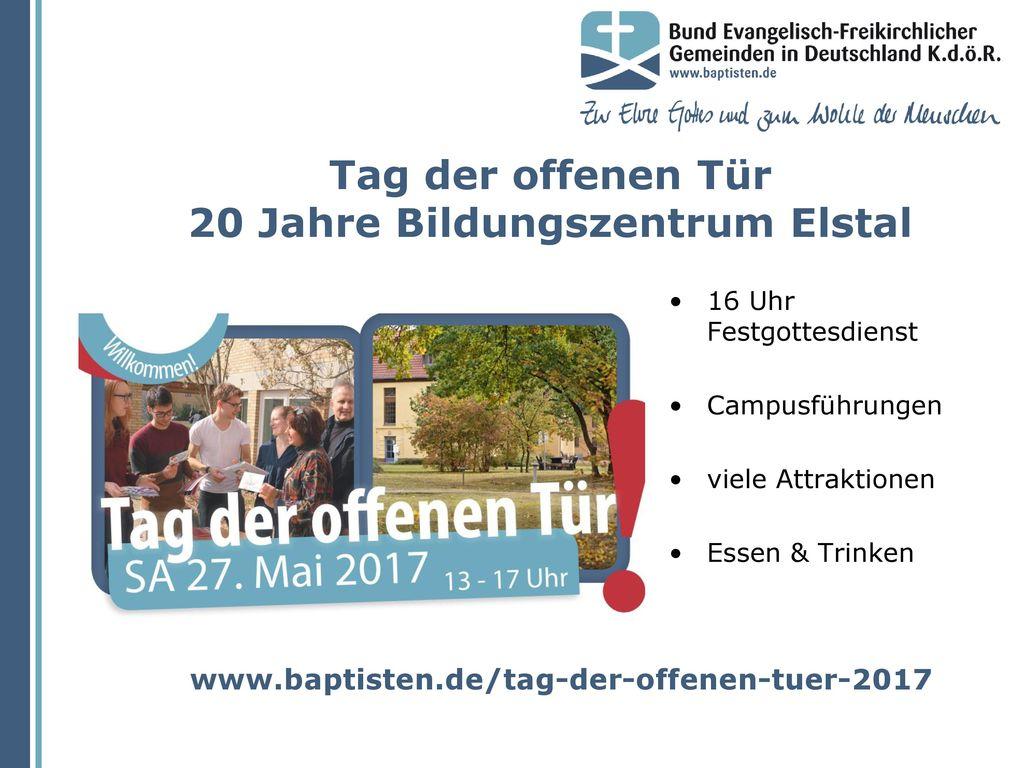Tag der offenen Tür 20 Jahre Bildungszentrum Elstal