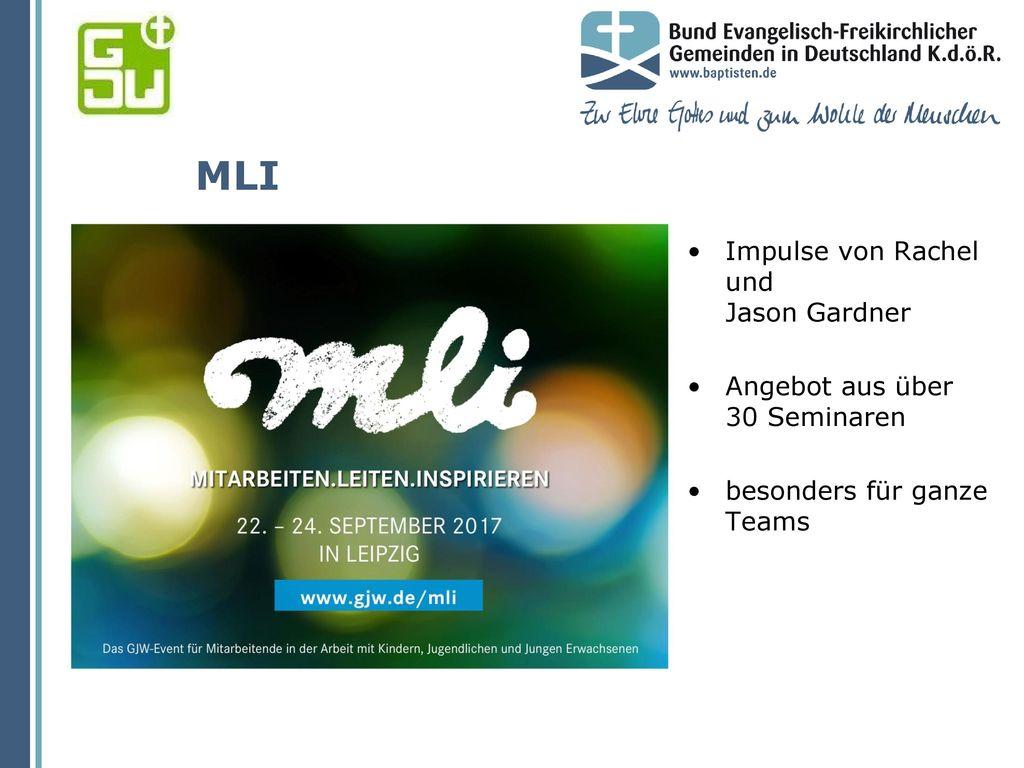 MLI Impulse von Rachel und Jason Gardner Angebot aus über 30 Seminaren