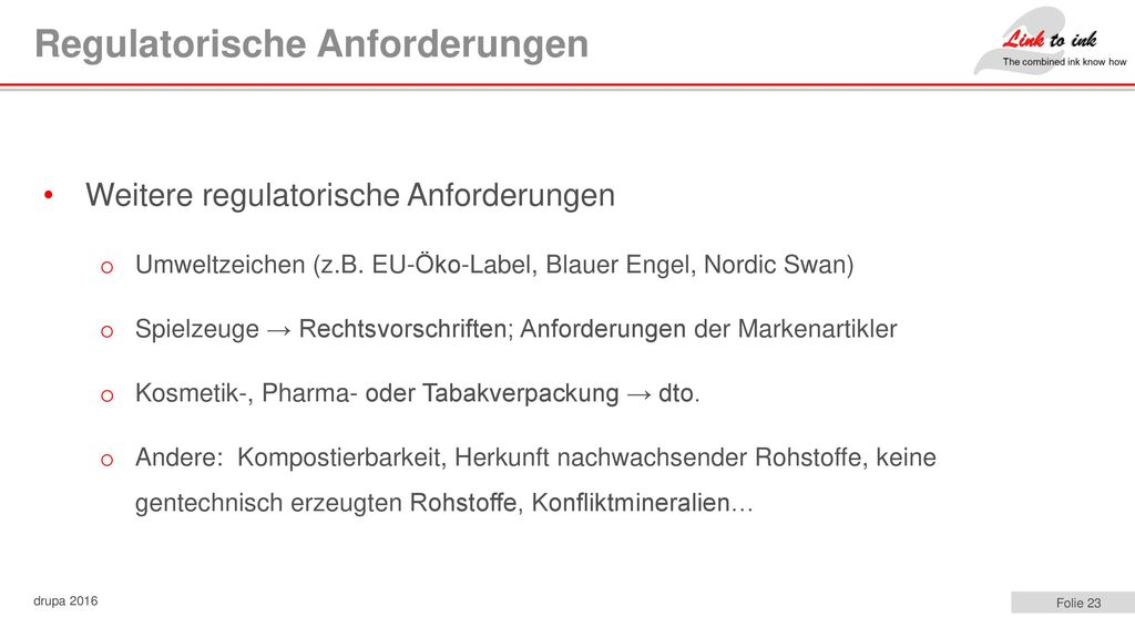 Regulatorische Anforderungen