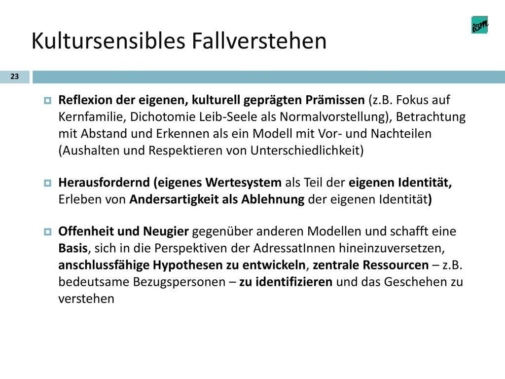 Kultursensibles Fallverstehen