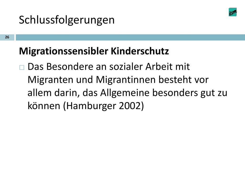 Schlussfolgerungen Migrationssensibler Kinderschutz