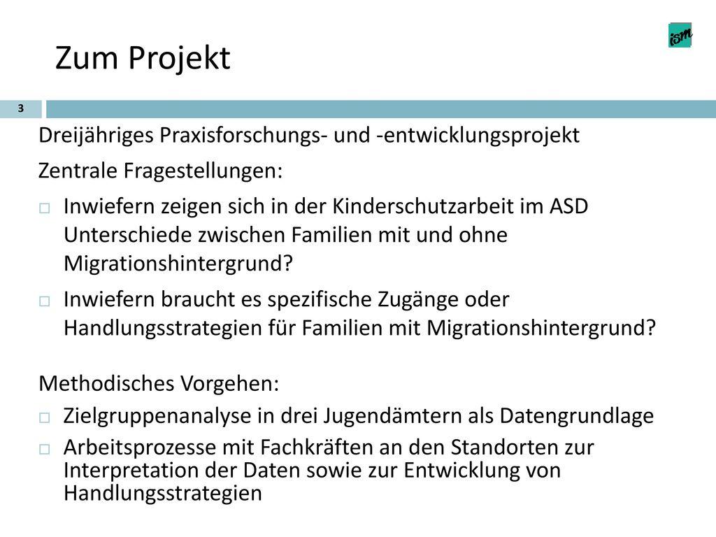 Zum Projekt Dreijähriges Praxisforschungs- und -entwicklungsprojekt