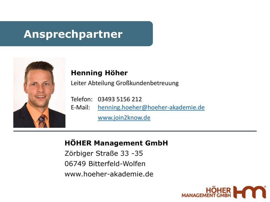 Ansprechpartner Henning Höher
