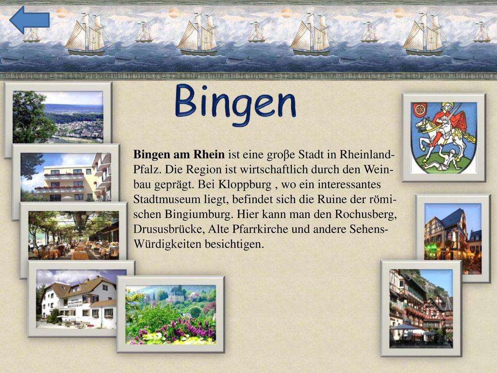 Bingen am Rhein ist eine groβe Stadt in Rheinland-