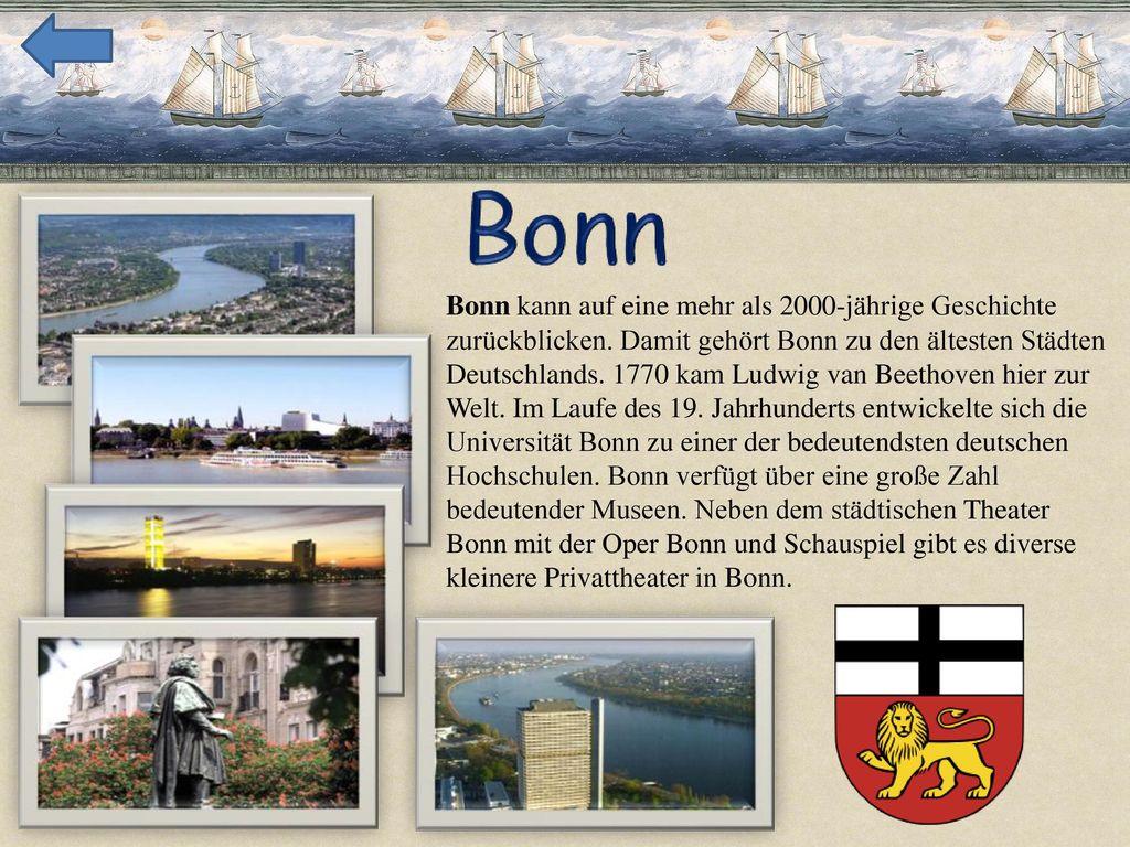 Bonn kann auf eine mehr als 2000-jährige Geschichte