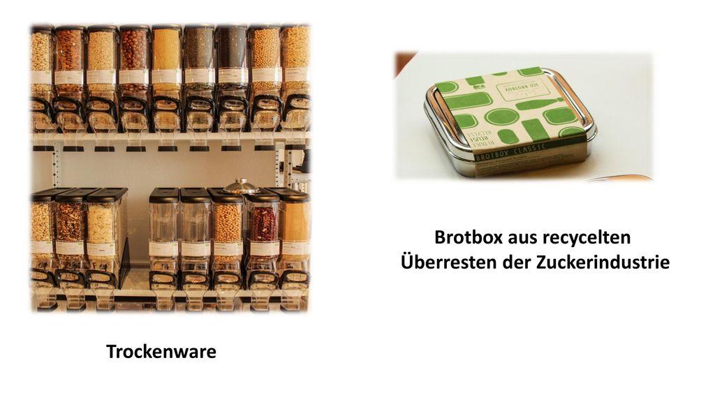 Brotbox aus recycelten Überresten der Zuckerindustrie