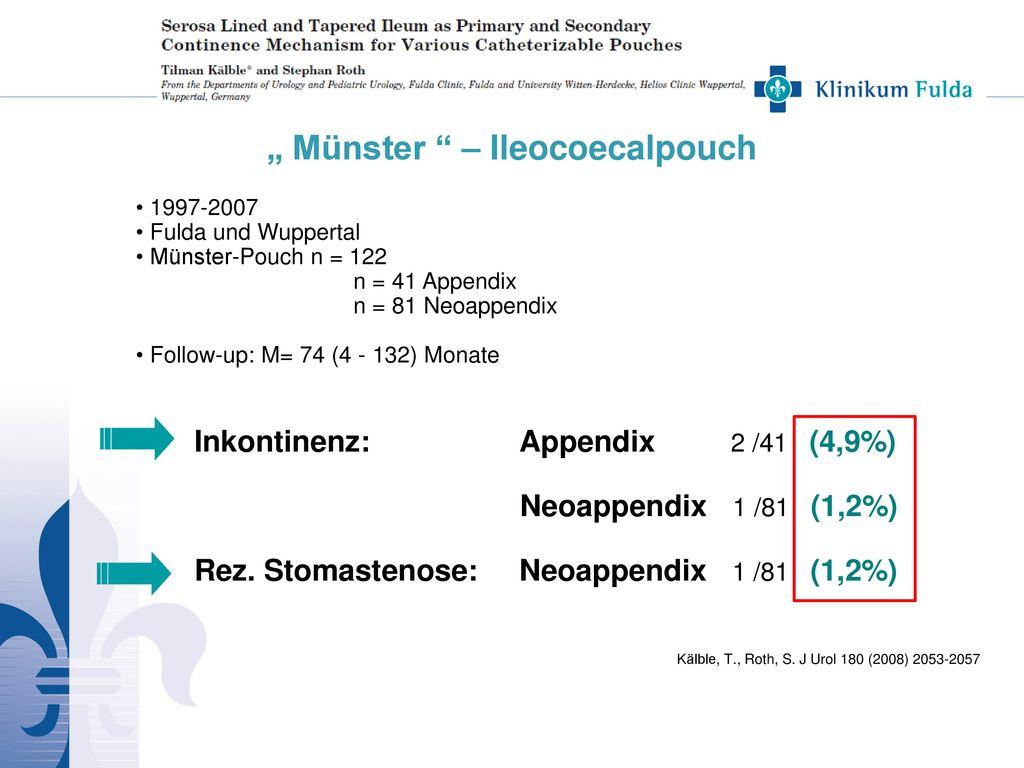 """ Münster – Ileocoecalpouch"