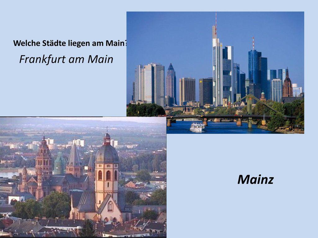 Welche Städte liegen am Main