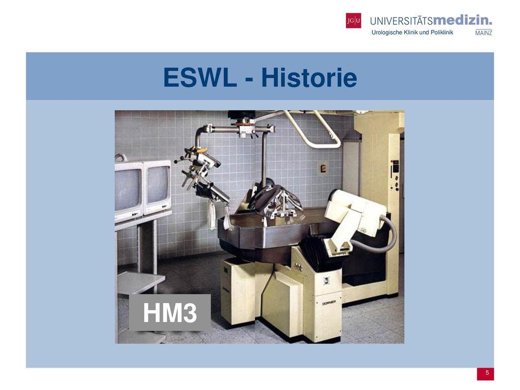 ESWL - Historie HM3.