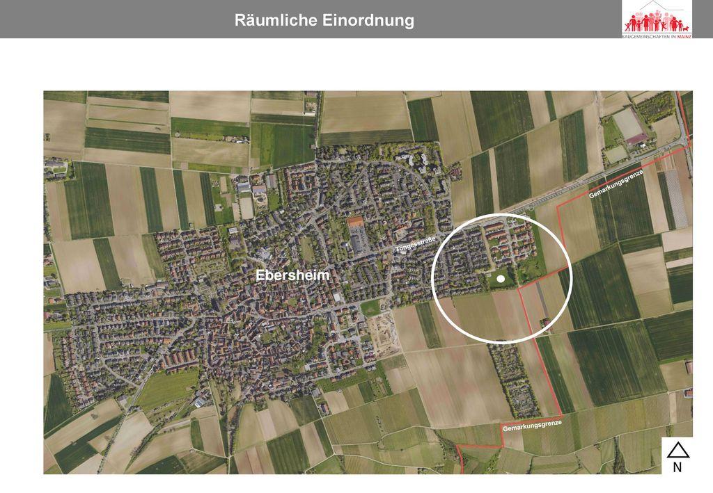Räumliche Einordnung Ebersheim Gemarkungsgrenze Töngesstraße