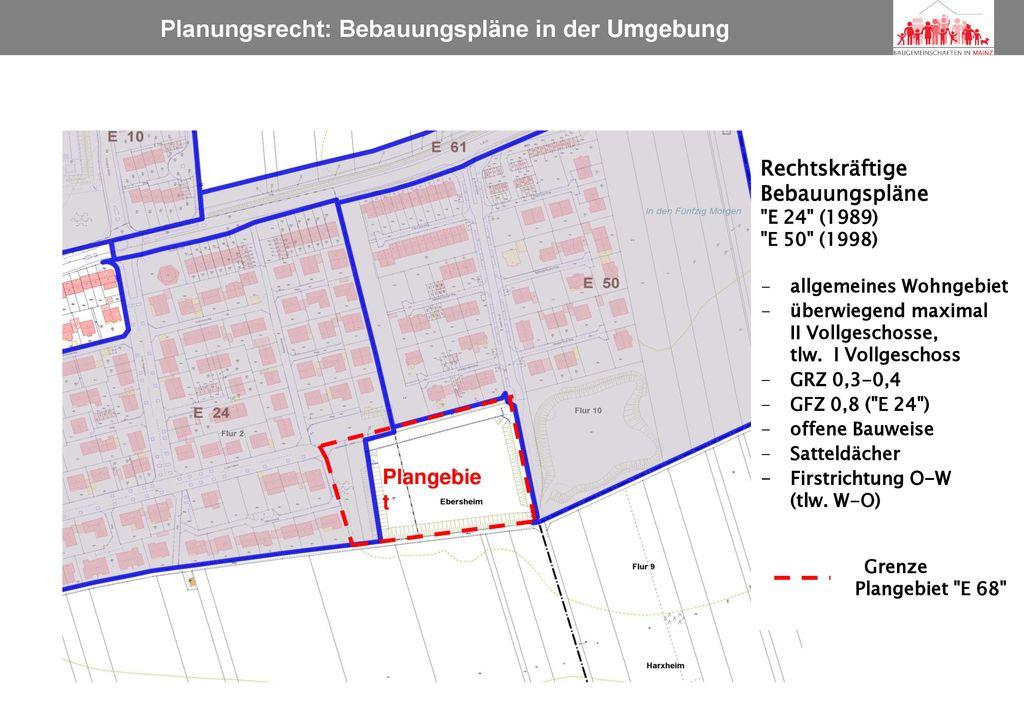 Planungsrecht: Bebauungspläne in der Umgebung