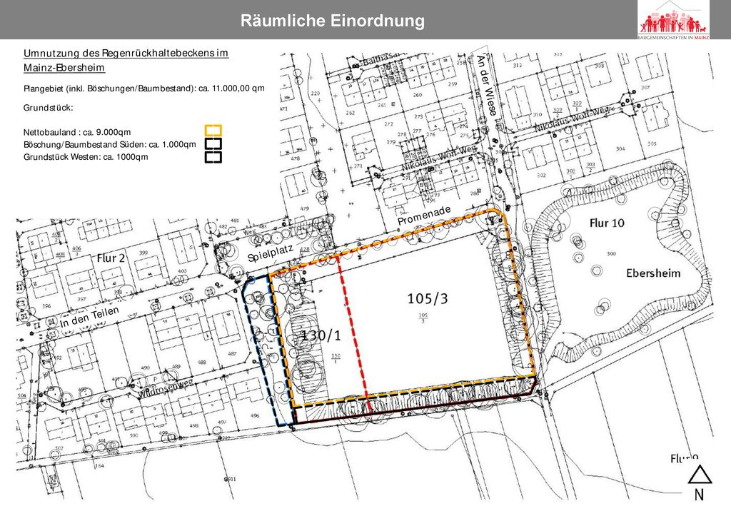 Räumliche Einordnung Plangebiet Balthasar-Becker-Weg Anemonenweg