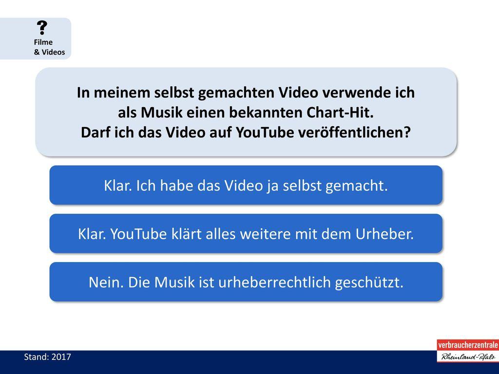 Darf ich das Video auf YouTube veröffentlichen