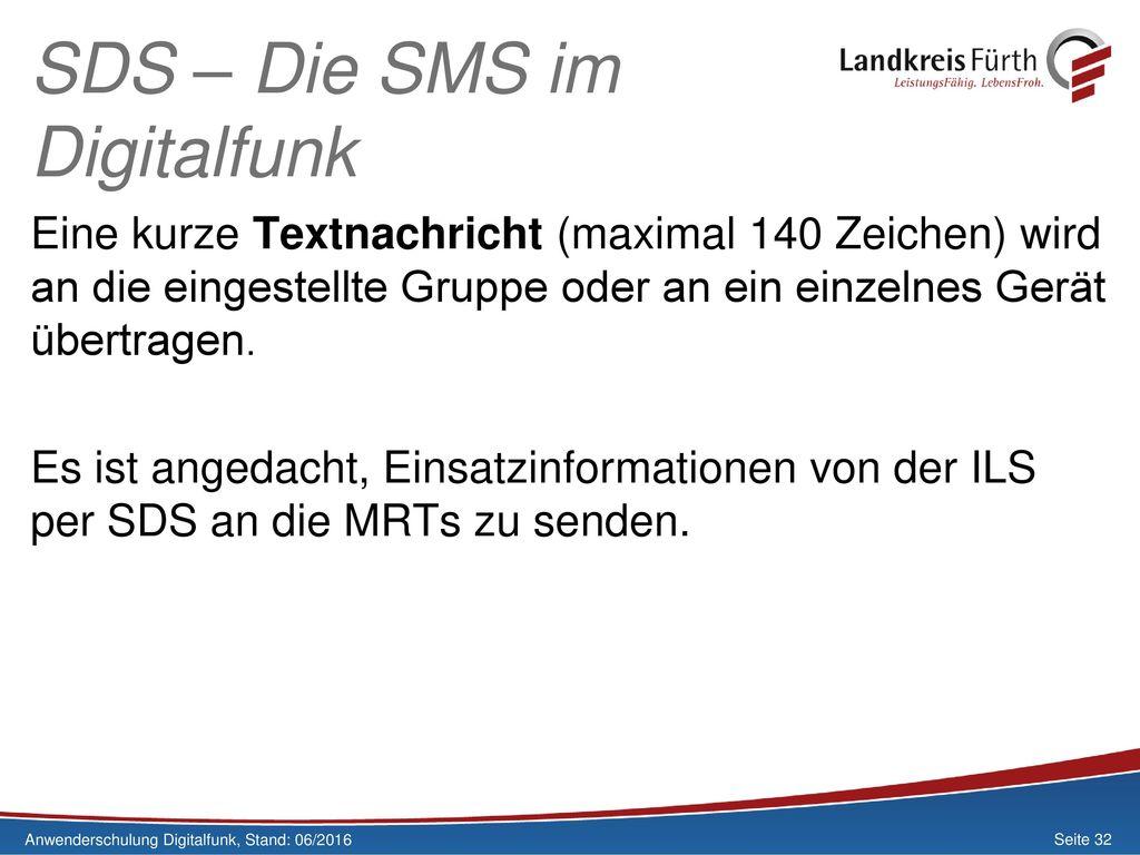 SDS – Die SMS im Digitalfunk