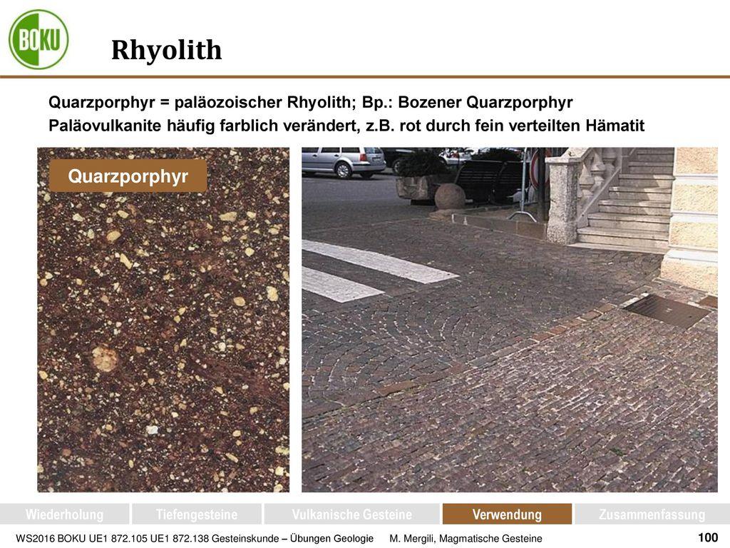 Rhyolith Quarzporphyr