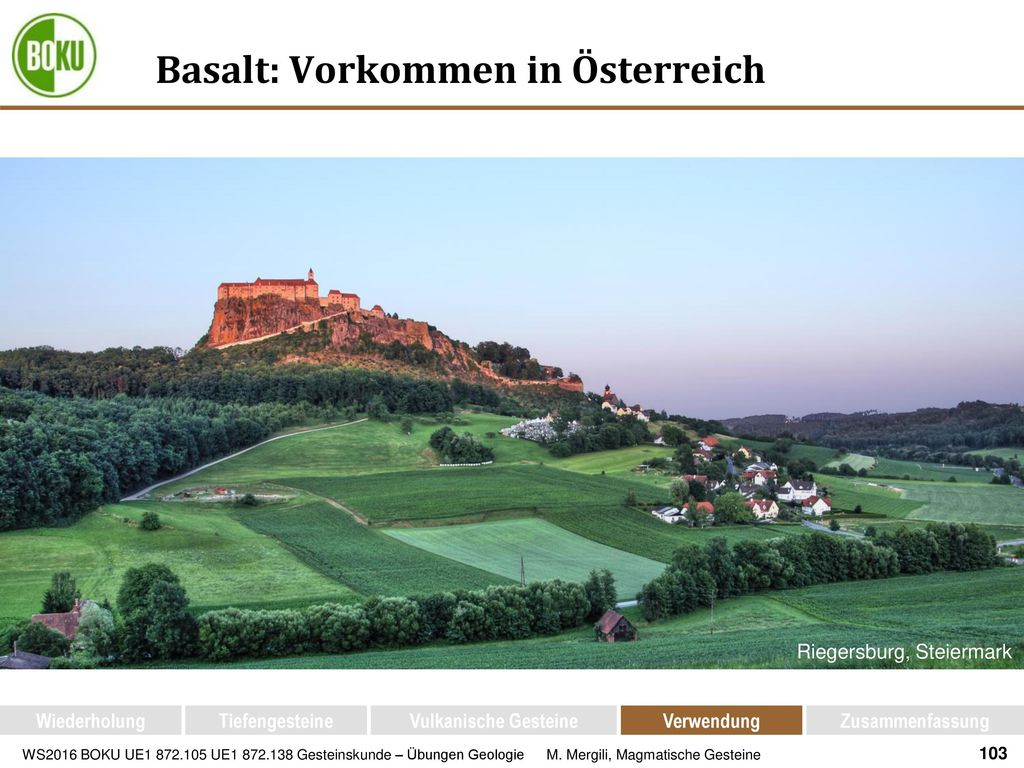 Basalt: Vorkommen in Österreich